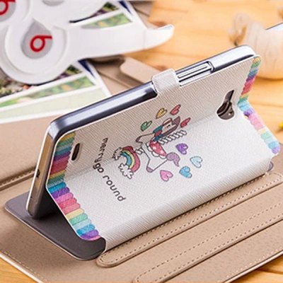 ФОТО Fabitoo Heart Hobbyhorse Pattern PU and PC Material Cover Case for Huawei Honor 3X