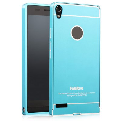 ФОТО Fabitoo Frame Style Aluminium Alloy Bumper with PC Back Case for Huawei Ascend P6