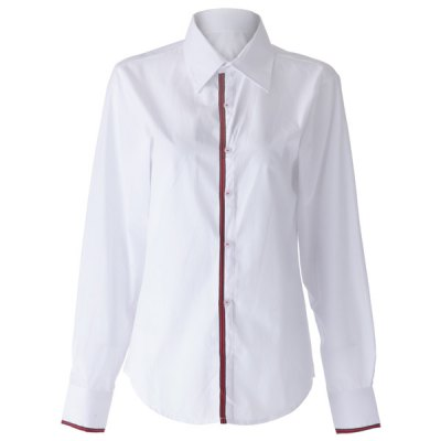 Slimming Lapel Striped Hem Long Sleeve Cotton Blend Mens Casual ShirtMens Shirts<br>Slimming Lapel Striped Hem Long Sleeve Cotton Blend Mens Casual Shirt<br><br>Shirts Type: Casual Shirts<br>Material: Polyester, Cotton<br>Sleeve Length: Full<br>Collar: Turn-down Collar<br>Weight: 0.500KG<br>Package Contents: 1 x Shirt