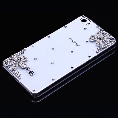 Фотография Fabitoo Diamante Daisy Pattern PC Transparent Back Cover Case for Huawei Honor 6