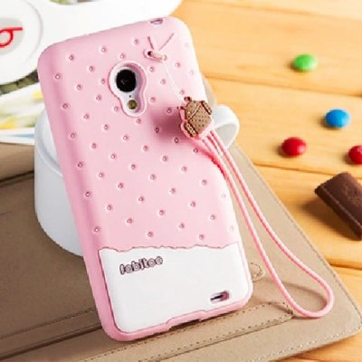 Fabitoo Lanyard Design Silicone Back Cover Case for Meizu MX3