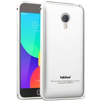 Fabitoo Frame Style Aluminium Alloy Bumper with PC Back Case for Meizu MX4 Pro