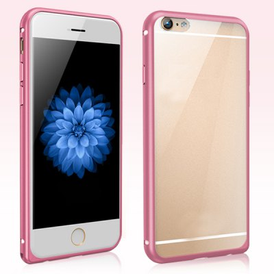 ФОТО Torras Frame Style Aluminium Alloy Bumper with Transparent PC Back Case for iPhone 6 Plus  -  5.5 inches