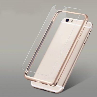 Torras Frame Style Aluminium Alloy Bumper with Transparent PC Back Case for iPhone 6  -  4.7 inches