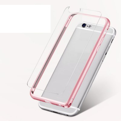 Гаджет   Torras Frame Style Aluminium Alloy Bumper with Transparent PC Back Case for iPhone 6  -  4.7 inches iPhone Cases/Covers