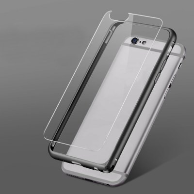 ФОТО Torras Frame Style Aluminium Alloy Bumper with Transparent PC Back Case for iPhone 6  -  4.7 inches