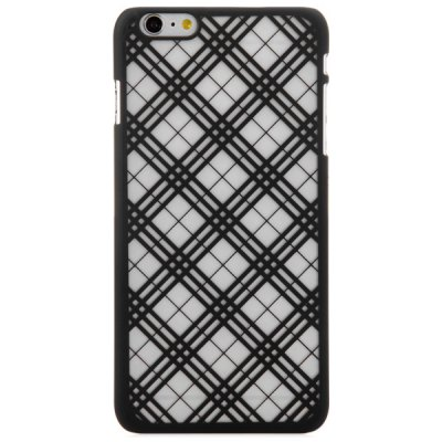 ФОТО Practical PC Material Grid Pattern Protective Back Case for iPhone 6 Plus  -  5.5 inches