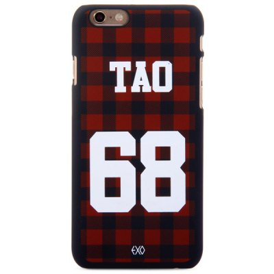 ФОТО Practical PC Material Number Grid Pattern Fluorescent Protective Back Case for iPhone 6  -  4.7 inches
