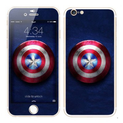 Cool Wallpaper Style Front + Back Body Sticker with Protective Skin for iPhone 6