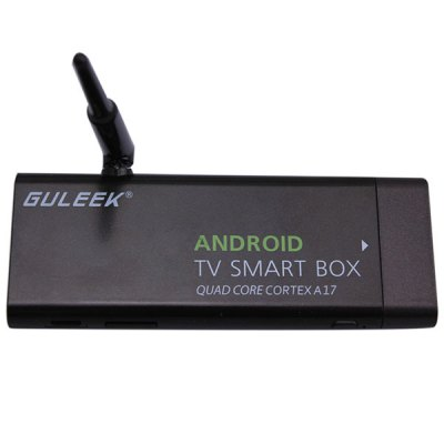 Guleek MK807IIIS 2GB 8GB RK3288 Quad Core Mini PC Android 4.4 WiFi Bluetooth 4K TV Box 1080P Google TV Player for Home Entertainment ( AC 100 - 220V )TV Box &amp; Mini PC<br>Guleek MK807IIIS 2GB 8GB RK3288 Quad Core Mini PC Android 4.4 WiFi Bluetooth 4K TV Box 1080P Google TV Player for Home Entertainment ( AC 100 - 220V )<br><br>Model: Guleek MK807IIIS<br>Color: Black<br>System: Android 4.4<br>GPU: Mali-T764<br>CPU: RK3288<br>Core: 1.8GHz, Quad Core, Cortex-A17<br>RAM: 2G<br>ROM: 8G<br>Max. Extended Capacity: 32G<br>Video Format: VC-1, RV10, MP4, WMV, 1080P, MPEG, MPEG-4, 4K, MPEG2, ASF, DIVX, AVI, MPEG1, H.264, M4V<br>Audio Format: APE, AAC, WAV, OGG, AC3, MP3, FLAC, WMA<br>Photo Format: JPEG, BMP, GIF, PNG, TIFF<br>Support 5G WiFi: Yes<br>WiFi: IEEE 802.11 b/g/n<br>Bluetooth: Bluetooth4.0<br>Power Supply: Charge Adapter<br>Interface: HDMI, TF Card, USB2.0<br>Antenna: Yes<br>Product Weight: 0.028 kg<br>Package Weight: 0.305 kg<br>Product Size (L x W x H): 8.8 x 2.9 x 1.1 cm / 3.46 x 1.14 x 0.43 inches<br>Package Size (L x W x H): 14.0 x 8.0 x 3.5 cm / 5.50 x 3.14 x 1.38 inches<br>Package Contents: 1 x TV Box, 1 x EU Plug Power Adapter, 1  x USB Cable, 1 x Antenna, 1 x HDMI Cable, 1 x English User Manual