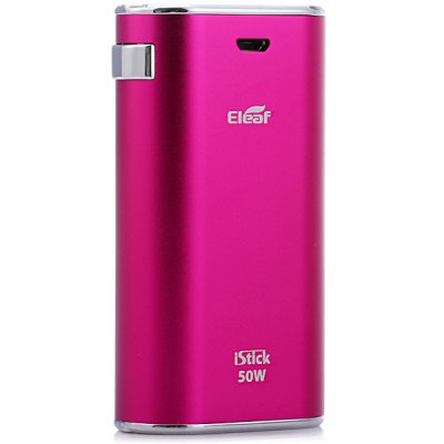 Genuine Eleaf iStick 50W Variable Voltage / Wattage E - Cigarette Box Mod - EleafVV/VW Mods<br>Genuine Eleaf iStick 50W Variable Voltage / Wattage E - Cigarette Box Mod<br><br>Type: Electronic Cigarettes Accessories<br>Brand: Eleaf<br>Model: iStick<br>Accessories type: MOD<br>Mod: VV/VW Mod<br>APV Mod Wattage: 50W<br>Battery capacity: 4400mAh<br>Material: Aluminum<br>Available Color: Silver, Black, Pink, Blue<br>Product weight  : 0.150 kg<br>Package weight   : 0.323 kg<br>Product size (L x W x H)  : 8.3 x 4.5 x 2.2 cm / 3.26 x 1.77 x 0.86 inches<br>Package size (L x W x H)  : 12.5 x 9.0 x 4.8 cm / 4.91 x 3.54 x 1.89 inches<br>Package Contents: 1 x iStick 50W Mod, 1 x eGo Threading Connector, 1 x USB Cable, 1 x Adapter, 1 x English User Manual