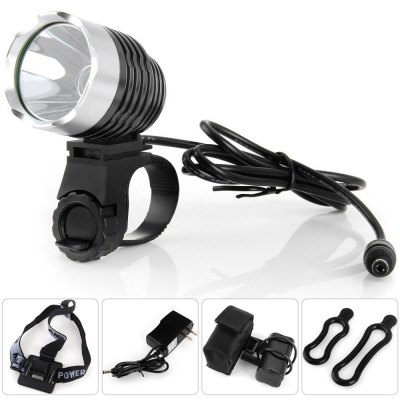 Dark Knight K1A Cree XML - U2 LED Headlight 6 Modes Headlamp Bicycle Light ( 1200LM 7000K )Bike Lights<br>Dark Knight K1A Cree XML - U2 LED Headlight 6 Modes Headlamp Bicycle Light ( 1200LM 7000K )<br><br>Type: Headlamp<br>Material: Electronic Components, Aluminum<br>Led Quantity: 1<br>Working time: 2.5 - 4.5 hours<br>Power Source: 4 x 18650 lithium battery<br>LED service life: 100000 hours<br>LED: Cree XML-U2<br>Modes: 6 Modes<br>Color: Rose, Gold, Gray, Black, Red, Blue<br>Package weight   : 0.455 kg<br>Product size (L x W x H)   : 8 x 4.3 x 9 cm / 3.14 x 1.69 x 3.54 inches<br>Package size (L x W x H)  : 23 x 10 x 10 cm / 9.04 x 3.93 x 3.93 inches<br>Package Contents: 1 x Headlamp, 1 x Headband, 1 x 18650 Battery Pack with Protective Bag, 1 x Battery Charger, 2 x Silicone Strap