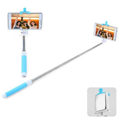 Portable Wireless Bluetooth RC Self Timer Stretch Monopod Camera Shutter with Rearview Mirror