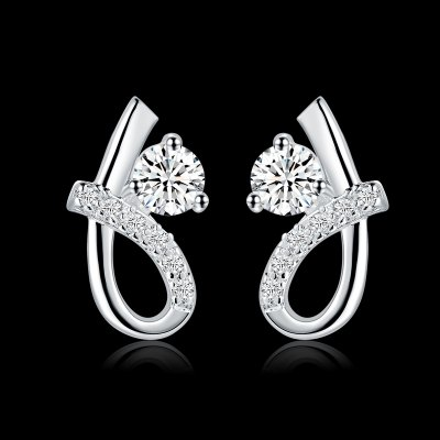 Pair of Chic White Zircon Embellished Kink Shape EarringsEarrings<br>Pair of Chic White Zircon Embellished Kink Shape Earrings<br><br>Earring Type: Stud Earrings<br>Gender: For Women<br>Style: Trendy<br>Shape/Pattern: Others<br>Weight: 0.035KG<br>Package Contents: 1 x Earring(Pair)