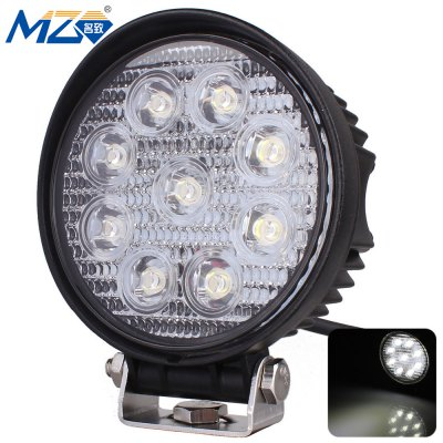 MZ - S - 27w - Spot - Round LED Spotlight 30 Degrees Work Light SUV UTV Head Light