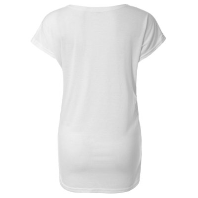 Fashion Style Scoop Neck Short Sleeve Loose Fit Printed Women's Summer T-Shirt