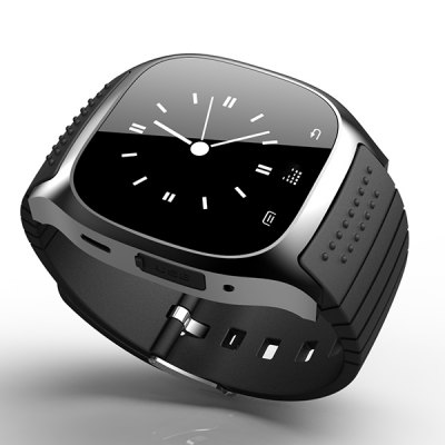 RWATCH M26s Bluetooth 4.0 Smart Watch BraceletSmart Watches<br>RWATCH M26s Bluetooth 4.0 Smart Watch Bracelet<br><br>Brand: Rwatch<br>Bluetooth version: Bluetooth 4.0<br>Waterproof: No<br>Groups of alarm: 5 sets<br>Alert type: Ring,Vibration<br>Screen: LCD<br>Battery Capacity: 230mAh / 3.7V<br>People: Unisex watch<br>Bluetooth working range: About 15M<br>Functions: Anti-lost alert,Camera remote,Dialing,Music Player,Notification of app,Pedometer,Phone book,Sleep monitoring<br>Shape of the dial: Rectangle<br>Case material: Metal<br>Band material: TPU<br>Language: Arabic,Czech,Dutch,English,Finnish,French,German,Indonesian,Italian,Korean,Polish,Portuguese,Romanian,Russian,Spanish,Swedish,Thai,Turkish,Vietnamese<br>Available color: Black,Blue,Gold,Silver,White<br>The dial thickness: 0.7 cm / 0.28 inches<br>The dial diameter: 1.9 cm / 0.75 inches<br>The band width: 1.9 cm / 0.75 inches<br>Product size (L x W x H): 27.00 x 4.50 x 1.00 cm / 10.63 x 1.77 x 0.39 inches<br>Package size (L x W x H): 13.00 x 9.00 x 7.00 cm / 5.12 x 3.54 x 2.76 inches<br>Product weight: 0.055 kg<br>Package weight: 0.200 kg<br>Package Contents: 1 x Smart Watch, 1 x Charging Cable, 1 x Chinese and English Manual