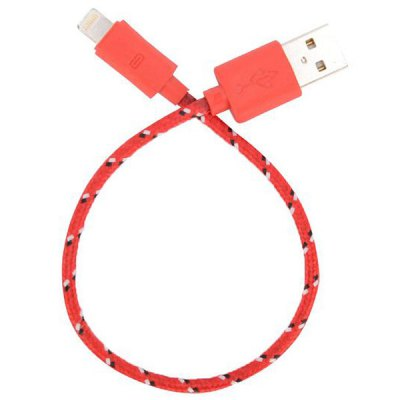 20cm Woven Design 8pin Data Sync / Charging CableiPhone Cables &amp; Adapters<br>20cm Woven Design 8pin Data Sync / Charging Cable<br><br>Cable Length (cm): 20cm<br>Color: Pink,Black,White,Red,Blue,Green,Purple,Orange,Yellow,Dark pink<br>Interface Type: 8 pin, USB 2.0<br>Mainly Compatible with: iPhone 5, iPhone 5S, iPhone 5C, iPhone 6 Plus, iPhone 6, Ipad Mini<br>Package Contents: 1 x 8pin Cable<br>Package size (L x W x H): 12.00 x 10.00 x 1.00 cm / 4.72 x 3.94 x 0.39 inches<br>Package weight: 0.0500 kg<br>Product size (L x W x H): 8.00 x 8.00 x 1.00 cm / 3.15 x 3.15 x 0.39 inches<br>Product weight: 0.0200 kg<br>Type: Cable