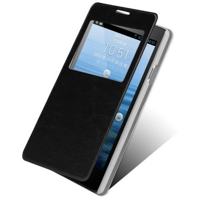 Mofi Stand Design PC and PU Material Cover Case for Huawei Ascend G700