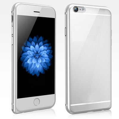 Torras Frame Style Aluminium Alloy Bumper with Transparent PC Back Case for iPhone 6 Plus  -  5.5 inches