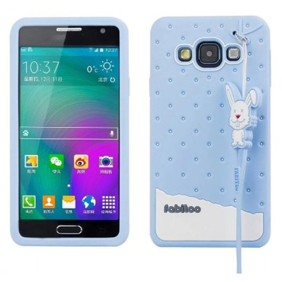 Fabitoo Lanyard Design Silicone Back Cover Case for Samsung Galaxy A3 A3000