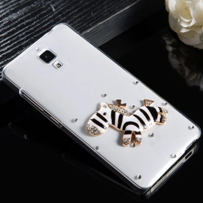 Fabitoo Diamante Black Hobbyhorse Pattern PC Transparent Back Cover Case for Xiaomi 4
