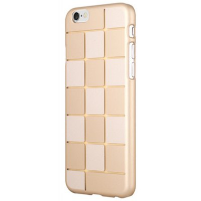 Grid Pattern Frosted Phone Cover Plastic Case Protector for iPhone 6 Plus  -  5.5 inch