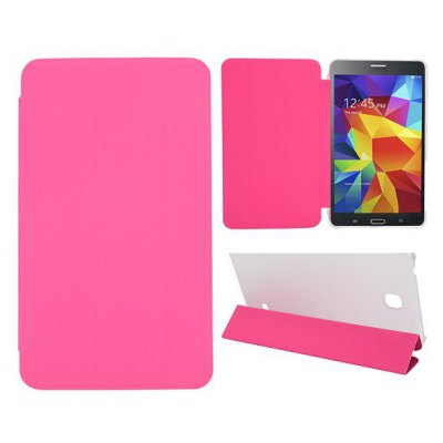 Toothpick Grain Design Cover PU Case Skin with Stand Function for Samsung Galaxy Tab 4 7.0 / T230 / T231 / T235