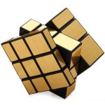 Shengshou Challenging 3 x 3 x 3 Brushed Golden Cube Puzzle Toy