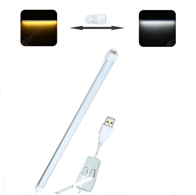 4W 5V Switch Controlled Dimmable Strip Shaped USB LED Light PC Gadget