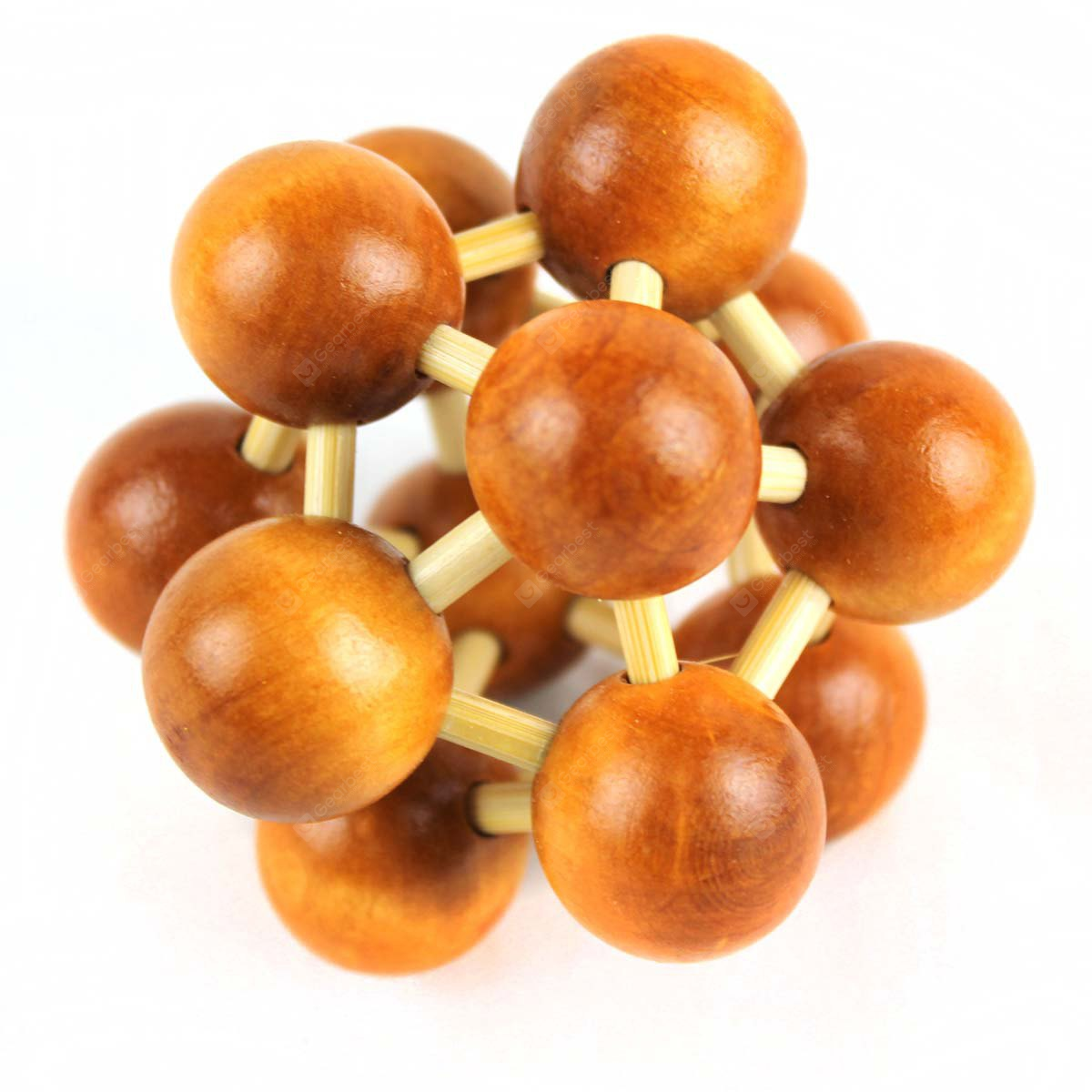 Unlock Brain Cell Style Wooden Puzzle Gene DNA Ball Educational Toy Birthday Present
