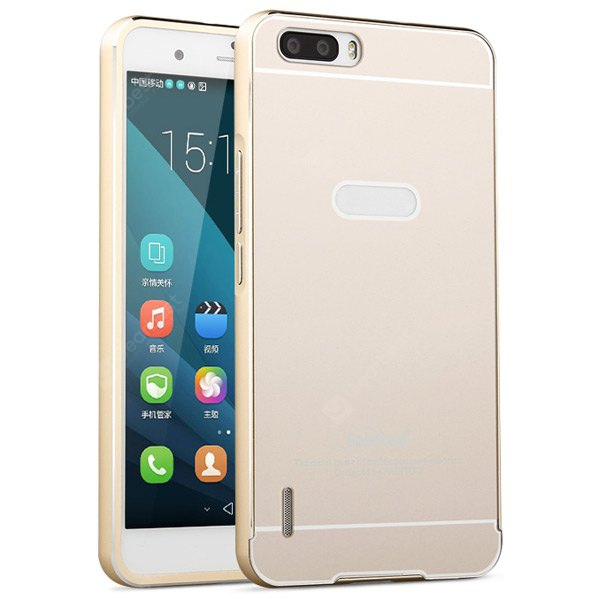 Fabitoo Frame Style Aluminium Alloy Bumper with PC Back Case for Huawei Honor 6 Plus