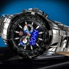 Tvg 579 Male Dual Time LED Watch Military Outdoor Sports Luminous Wristwatch deal