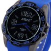 S - 421 Large Dial Soft Rubber Band Sports Watch deal