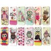 cheap Shimmering Powder Owl Pattern TPU Material Back Case for iPhone 6  -  4.7 inches