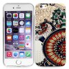 Ultrathin Retro Flower Pattern TPU Material Back Case for iPhone 6  -  4.7 inches