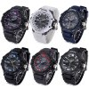 cheap Shhors 788 Jiangyuyan Water Resistant Sports LED Watch Double Time Date Day Function