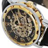 Orkina Men Watch Hollow Out Automatic Mechanical Wristwatch Leather Band photo
