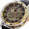 cheap Orkina Men Watch Hollow Out Automatic Mechanical Wristwatch Leather Band