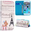Cute Bear Tower Style PU Leather TPU Material Full Body Case with Stand Credit Card Holder for iPhone 6  -  4.7 inches