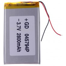 045794P Universal Replacement 3.7V 2800mAh Li - polymer Rechargeable Battery