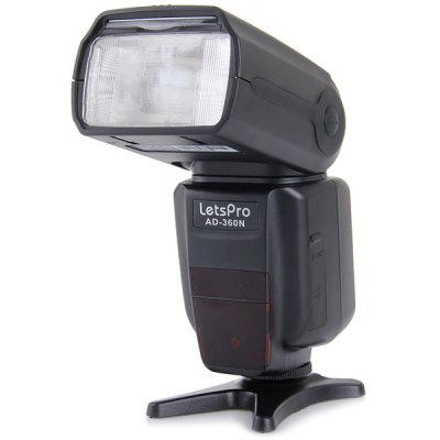 HandHeld Rotatable Letspro Speedlight PC Port for Nikon AD-360N