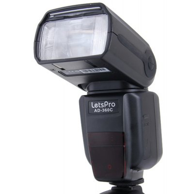 HandHeld Rotatable Letspro Speedlight PC Port for Canon AD-360C