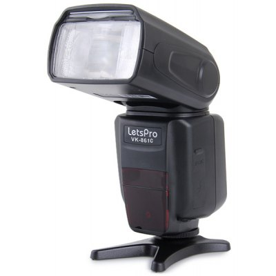 HandHeld Rotatable Letspro Speedlight PC Port for Canon VK-861C