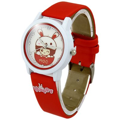 Women Girls Quartz Watch with Cartoon Pattern Round Dial Leather BandWomens Watches<br>Women Girls Quartz Watch with Cartoon Pattern Round Dial Leather Band<br><br>Watches categories: Female table<br>Available color: Blue, Yellow, Pink, Red<br>Style : Fashion&amp;Casual<br>Movement type: Quartz watch<br>Shape of the dial: Round<br>Display type: Analog<br>Case material: Alloy<br>Band material: Leather<br>Clasp type: Pin buckle<br>The dial thickness: 1.0 cm / 0.39 inches<br>The dial diameter: 3.8 cm / 1.49 inches<br>Product weight: 0.050 kg<br>Package weight: 0.1 kg<br>Product size (L x W x H) : 23.5 x 3.8 x 1.0 cm / 9.24 x 1.49 x 0.39 inches<br>Package size (L x W x H): 24.5 x 4.8 x 2.0 cm / 9.63 x 1.89 x 0.79 inches<br>Package contents: 1 x Watch