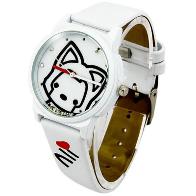 Cute Cartoon Ali Design Girls Women Quartz Watch with Leather Band Round DialWomens Watches<br>Cute Cartoon Ali Design Girls Women Quartz Watch with Leather Band Round Dial<br><br>Watches categories: Female table<br>Available color: Red, Blue, Yellow, White, Pink<br>Style : Fashion&amp;Casual<br>Movement type: Quartz watch<br>Shape of the dial: Round<br>Display type: Analog<br>Case material: Alloy<br>Band material: Leather<br>Clasp type: Pin buckle<br>The dial thickness: 1.0 cm / 0.39 inches<br>The dial diameter: 3.8 cm / 1.49 inches<br>Product weight: 0.050 kg<br>Package weight: 0.1 kg<br>Product size (L x W x H) : 23.5 x 3.8 x 1.0 cm / 9.24 x 1.49 x 0.39 inches<br>Package size (L x W x H): 24.5 x 4.8 x 2.0 cm / 9.63 x 1.89 x 0.79 inches<br>Package contents: 1 x Watch