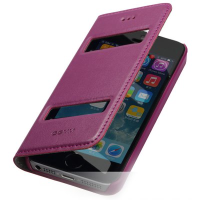 GGMM PC and Genuine Leather Material Cover Case for iPhone 5 5S