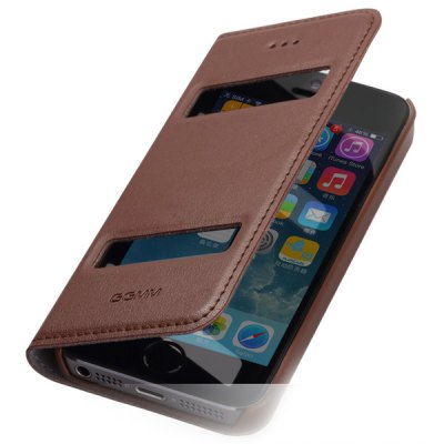 Фотография GGMM Support Design PC and Genuine Leather Material Cover Case for iPhone 5 5S
