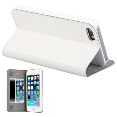 Гаджет   GGMM Built - in Mirror PC and Genuine Leather Material Cover Case for iPhone 5 5S iPhone Cases/Covers