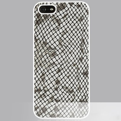 ФОТО GGMM Animal Print Pattern PC and Genuine Leather Material Back Cover Case for iPhone 5 5S
